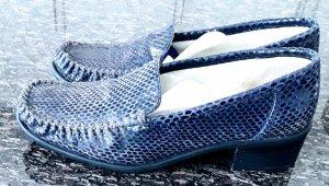 Jenny by Ara Schuhe mokassin Kroko stil blau gr. 38,5
