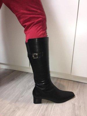 Jenny by Ara Weitschaft Stiefel Boots schwarz Echtleder Größe 42 NEU