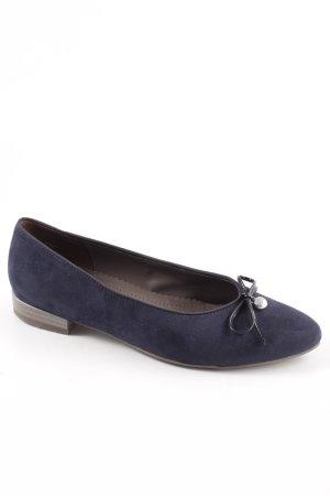 Jenny faltbare Ballerinas blau Business-Look