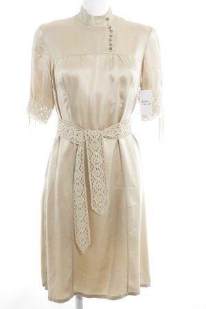 Jenny Hellström Kurzarmkleid beige Elegant