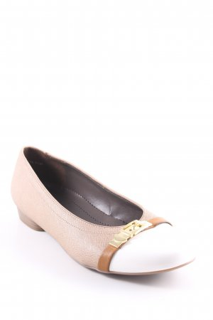 Jenny Patent Leather Ballerinas beige-white casual look