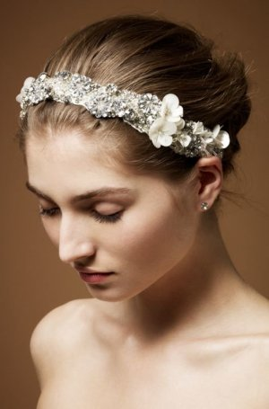 Jenny Packham Braut Hochzeit Gatsby vintage Boho Haarband Headband Flora neu OVP