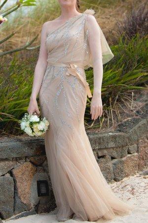 Jenny Packham Gatsby Vintage Brautkleid lang blush rose nude UK8 dt 36