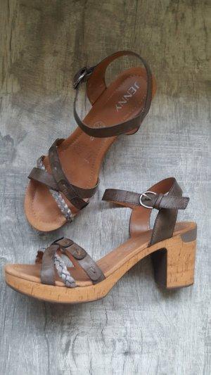 Jenny Platform High-Heeled Sandal brown