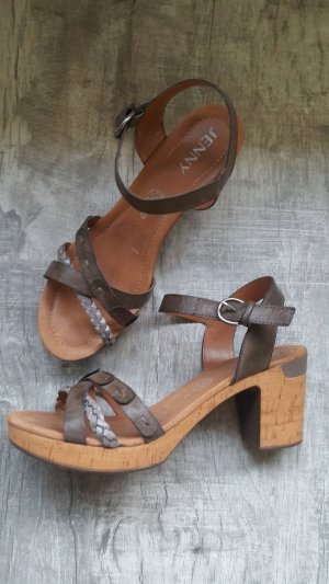 Jenny Platform High-Heeled Sandal brown