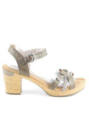 Jenny Riemchen-Sandaletten graubraun Elegant