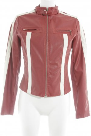 Jennyfer Biker Jacket red-white biker look
