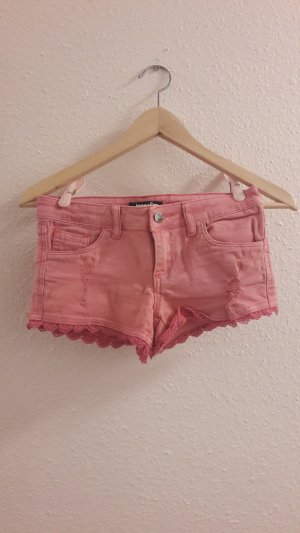 Jennyfer Pantalón corto de tela vaquera rosa-rosa