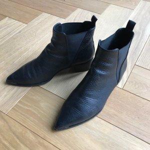 Acne Chelsea laarzen zwart Leer
