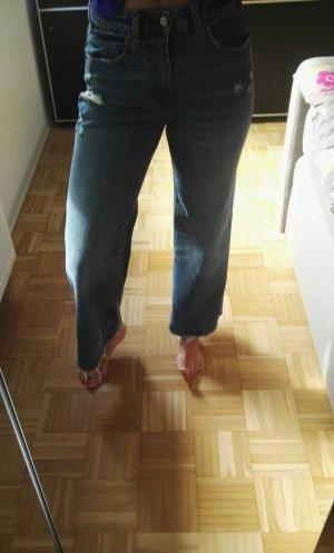 Jenshose Wide Leg hoher Bund Used Look