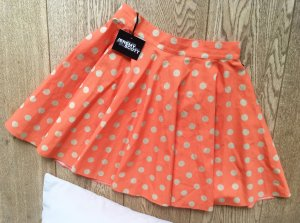 Jeremy Scott adidas Mini-jupe orange fluo-doré tissu mixte