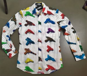 Jeremy Scott adidas Long Sleeve Shirt multicolored cotton