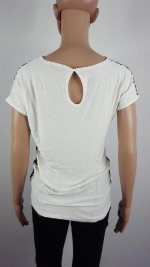 Mesh Shirt black-white