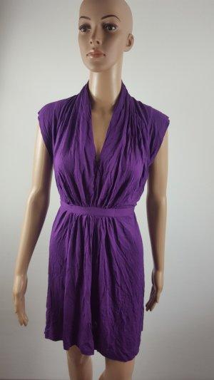 Vestido babydoll lila Viscosa