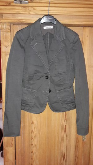 René Lezard Jersey Blazer taupe cotton
