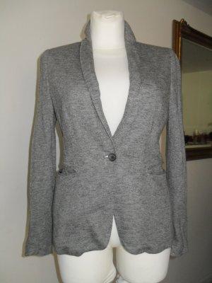 Jersey Blazer grau/weiss TOP