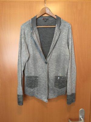 Jersey Blazer in grau