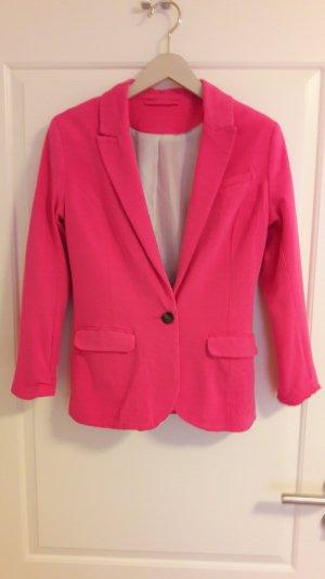 Jersey-Blazer in pink von H&M, Gr.34
