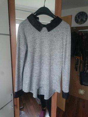 Jersey Bluse mit Kragen