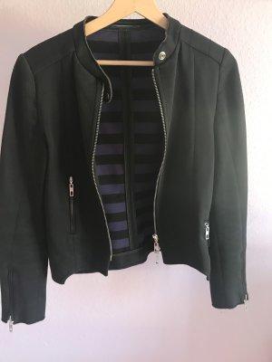 Jersey Jacke, Blazer im Bikerstyle schwarz