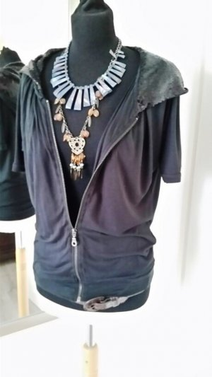 Only Hooded Shirt black viscose