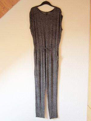 Jersey-Jumpsuit mit Leo-Print & tiefem Rückenausschnitt S