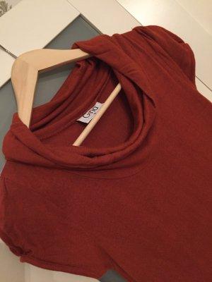 Jersey-Kleid Gr. S mit Taschen - Rostfarben