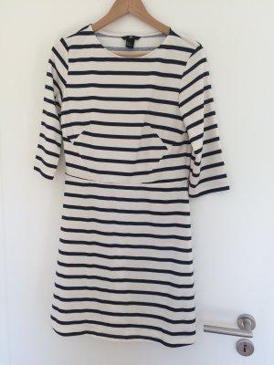 Jersey-Kleid herbsttauglich NEU Marinestreifen Navy Marine gestreift 3/4 Arm