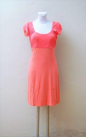 Jersey Kleid mit Chiffon