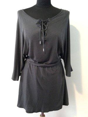 Jersey Kleid mit Schnürung von Pull&Bear, Gr. S (36/38)