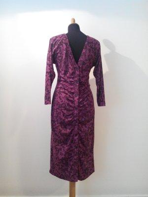 jersey kleid pink schwarz AOP print sexy back rückenfrei retro vintage