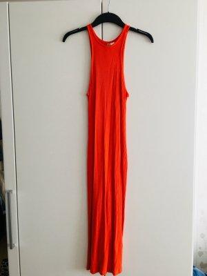 H&M Divided Midi Dress neon orange
