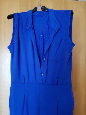 Jersey Overall in tollem Azur blau mit kleiner Tasche am Oberteil