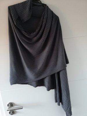 Jersey Schal / Tuch / grau / Poncho