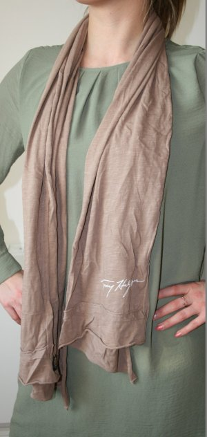 Tommy Hilfiger Summer Scarf light brown textile fiber