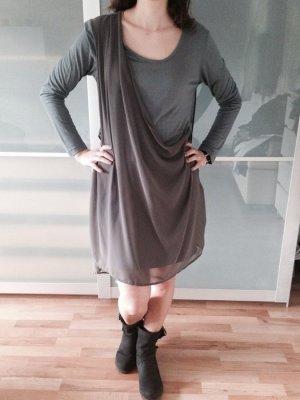 Jersey/Seiden-Mix Kleid