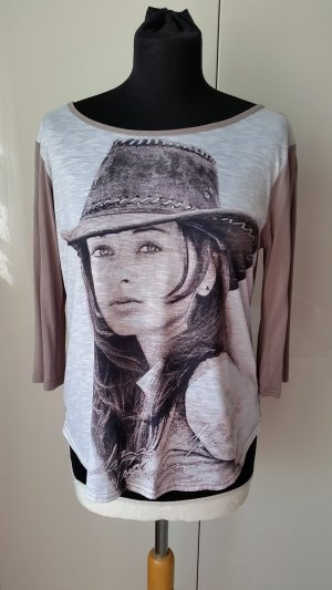 Jersey Shirt mit aktuellem Print Gr. M