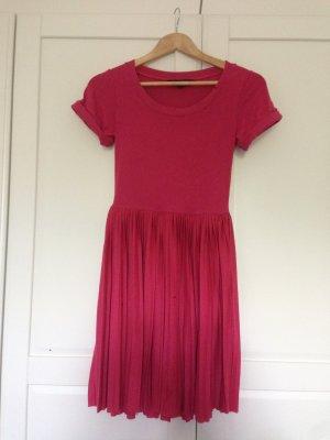 Jersey Streck Kleid mit Plissee Rock (Größe 36)