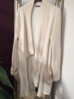 Jersey Strickjacke mit Wolldetails