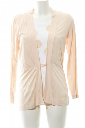 Twin set in jersey albicocca-bianco motivo a pallini stile casual