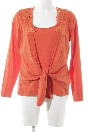 Twin set in jersey arancione scuro stile casual