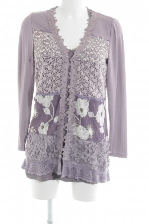 Jersey Twin Set florales Muster extravaganter Stil
