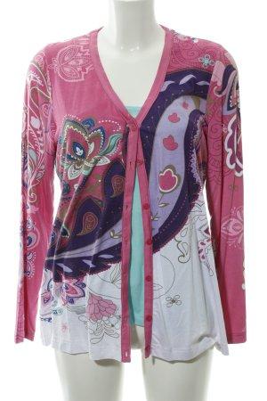 Twin set in jersey motivo floreale stile stravagante