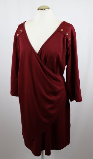 Camisa larga burdeos-rojo amarronado