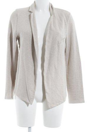 Jersey blazer beige-room zakelijke stijl
