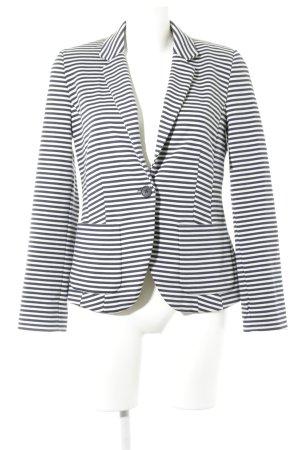 Jerseyblazer dunkelblau-weiß Streifenmuster Business-Look