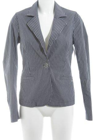 Blazer in jersey grigio ardesia motivo a righe stile casual