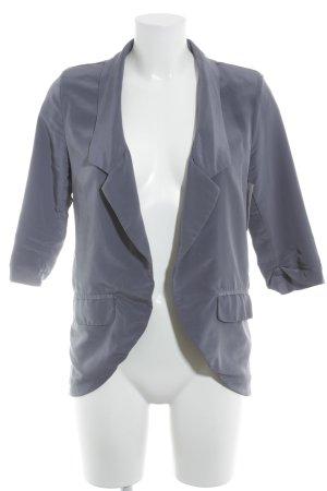 Jersey blazer grijs-paars casual uitstraling