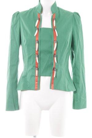 Blazer in jersey verde stile stravagante
