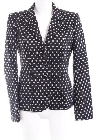 Jerseyblazer hellbeige-schwarz Punktemuster 50ies-Stil
